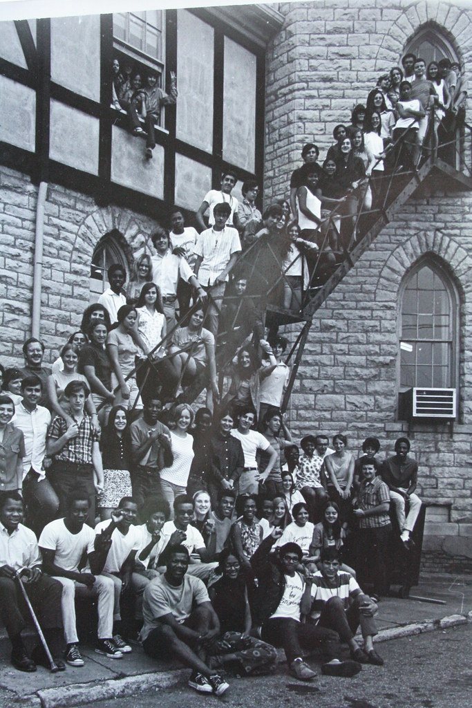 Kentucky 1969 EFC, photo of encampers on staircase